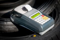 Kasa fiskalna Posnet Mobile EU - Posnet Mobile EU w warsztacie samochodowym